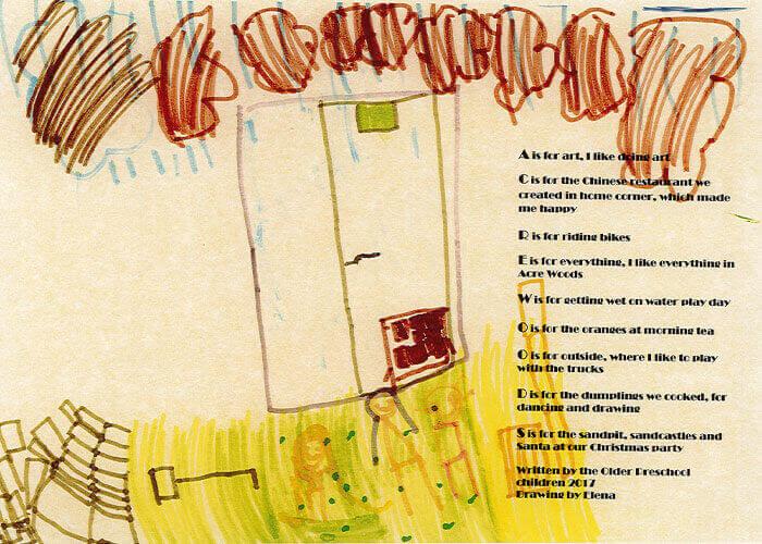 Acre Woods Pymble poem