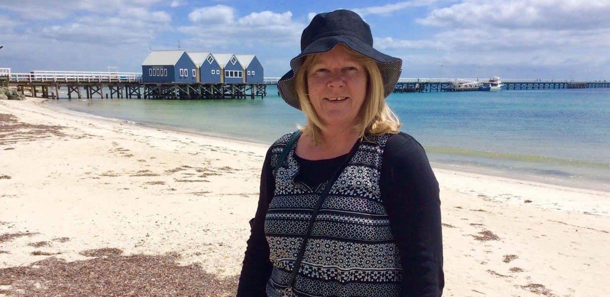 Educator at the beach