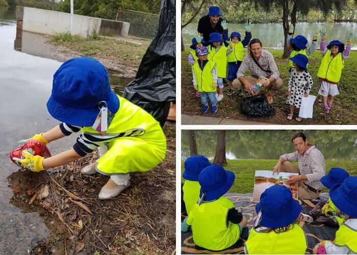 Guardian Marrickville children cleaning up garden