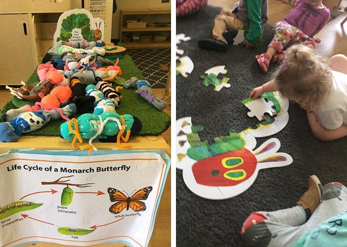 Puzzles and caterpillars at Creative Beginnings
