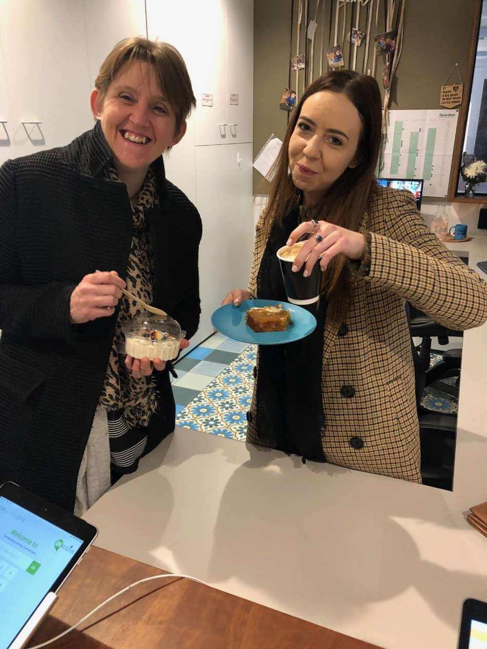 Two Educators @ Guardian Caulfield North eating brekkie
