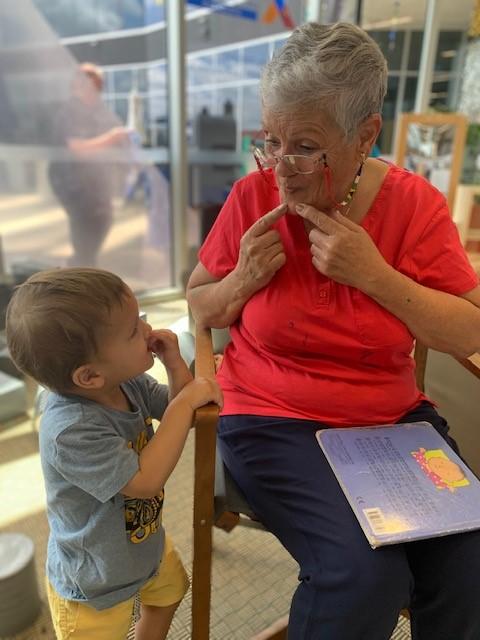 intergenerational partnership between nanna rita and child
