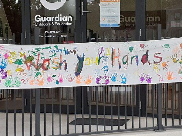 Everton Hill's rainbow trail banner