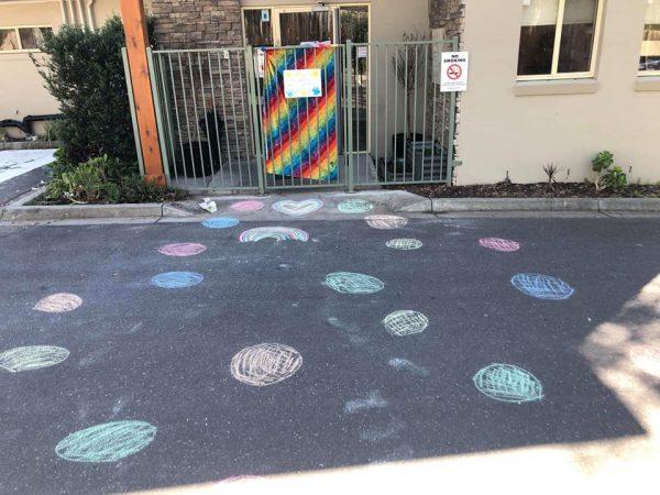Guardian Montmorency's rainbow trail mural