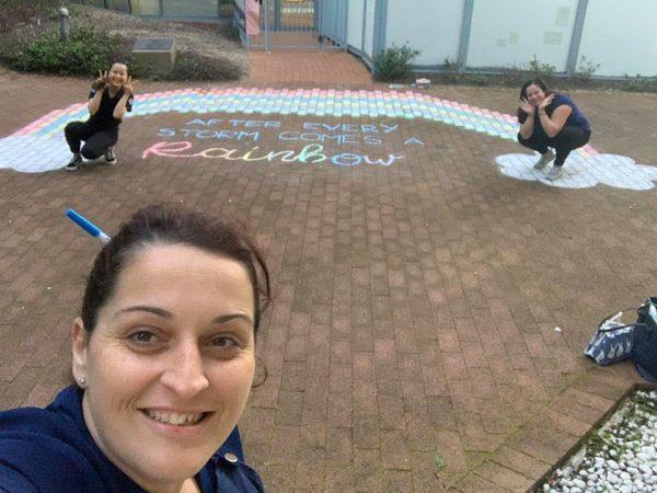Pymble team creating rainbow trail