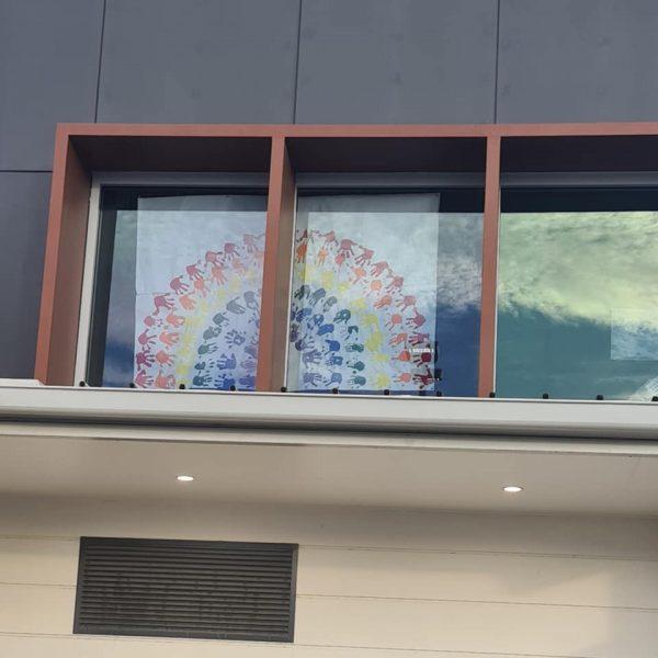 Guardian Springfield's hand print rainbow